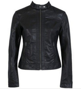 single Pimkie washed PU leather motorcycle jacket Slim female short paragraph leather large size wholesale Free shipping