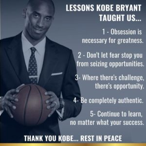 REST IN POWER: Lessons Kobe Bryant Taught Us, A Memoriam